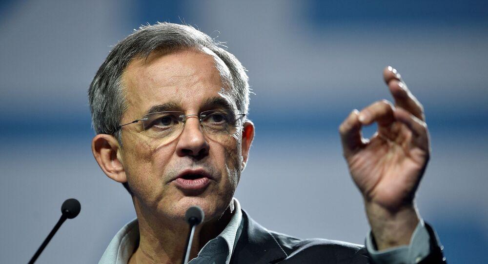 L'eurodéputé RN Thierry Mariani, tête de liste du parti pour les régionales en Provence-Alpes-Côte-d'Azur, mai 2019