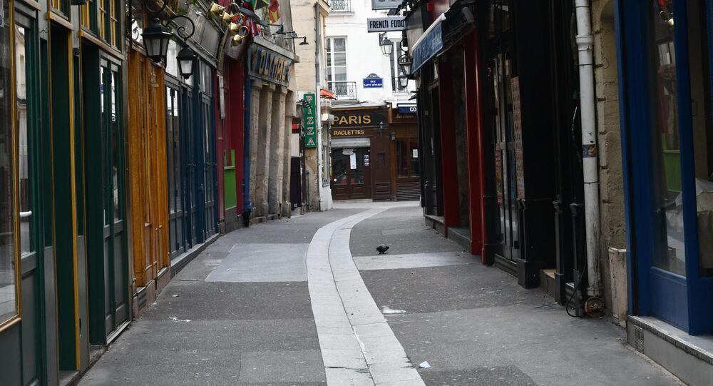 Rue déserte lors de la pandémie, Paris