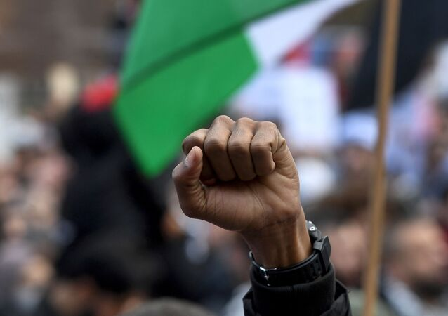 une manifestation en soutien aux Palestiniens