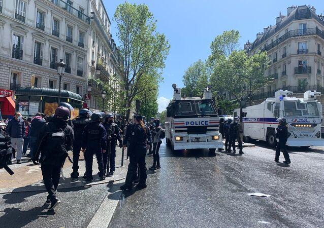 Manifestation pro-Palestine à Paris, 15 mai 2021