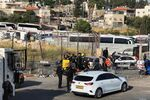 Situation à l'entrée du quartier de Chiekh Jarrah, où un incident à la voiture-bélier a été rapporté