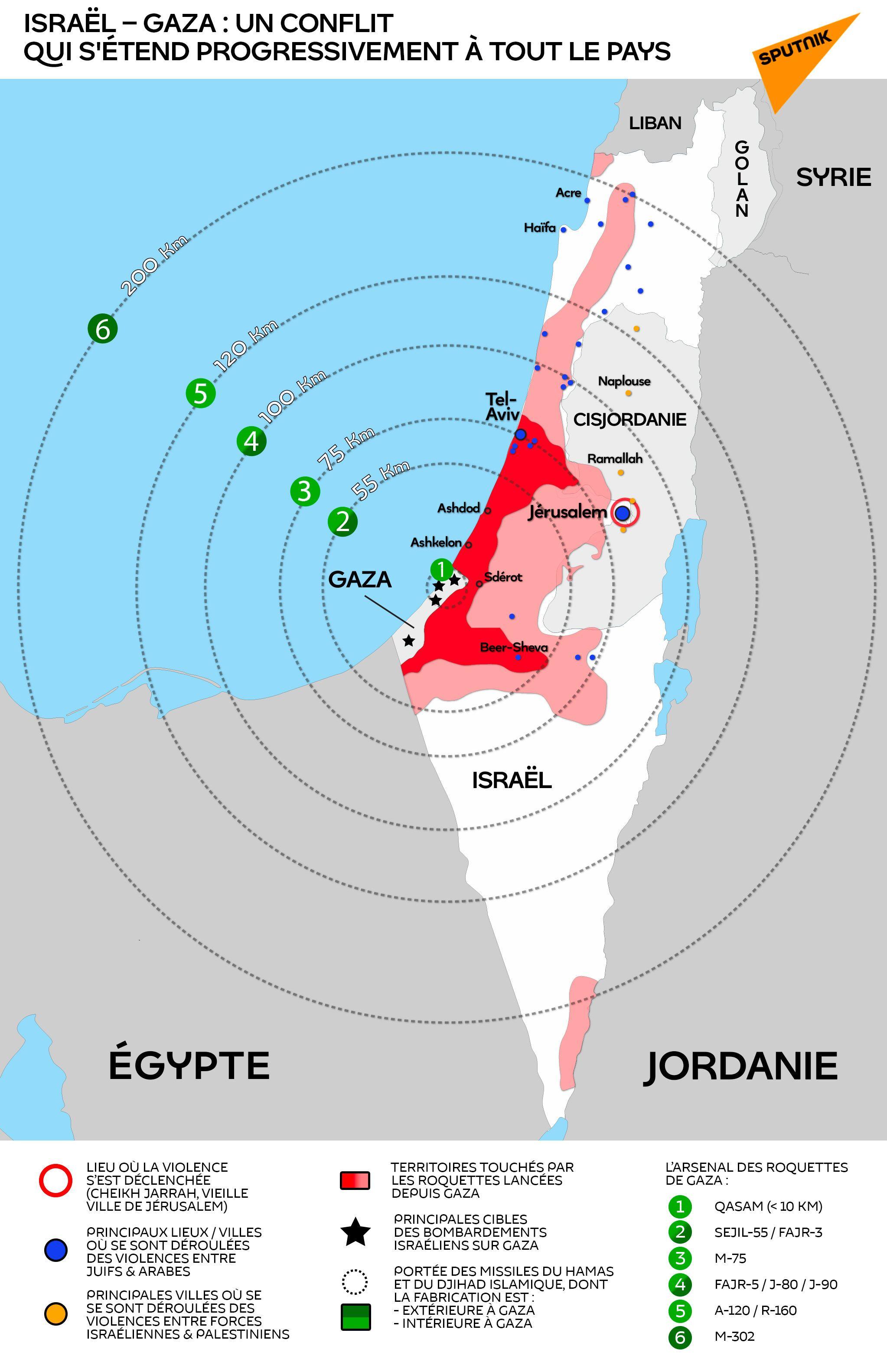 Israël - Gaza : un conflit qui s'étend progressivement à tout le pays