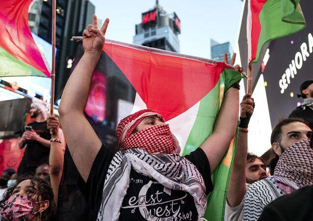 Une manifestation pro-palestinienne à New York