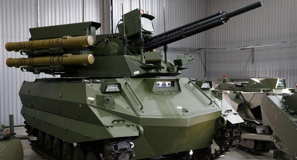 Le robot russe Uran-9 (archive photo)