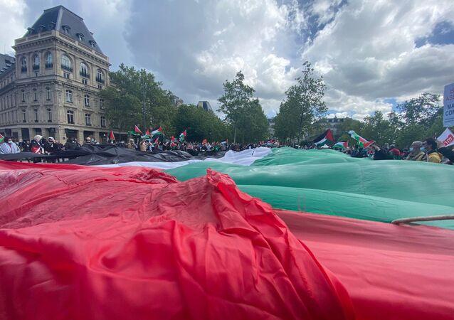 Une manifestation en soutien au peuple palestinien se tient à Paris, 22 mai 2021