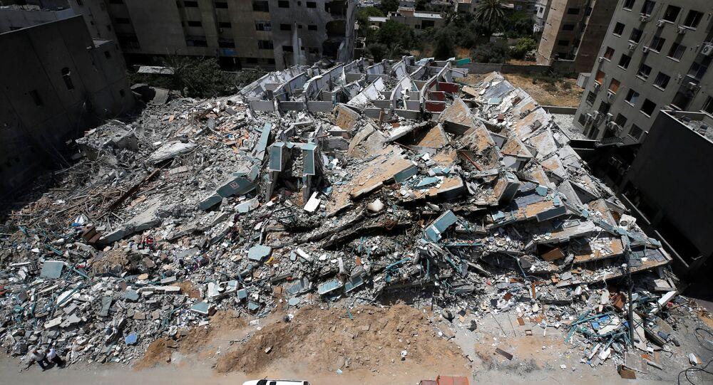 Gaza après plusieurs jours de combats, le 21 mai 2021