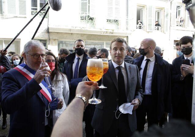 Emmanuel Macron à Nevers, le 21 mai 2020