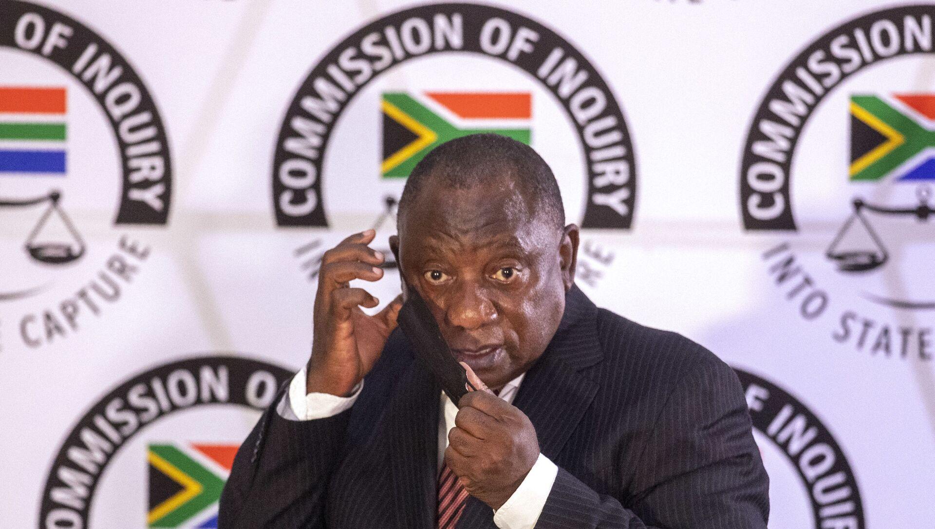 Cyril Ramaphosa, Président sud-africain, 28 avril 2021 - Sputnik France, 1920, 13.08.2021