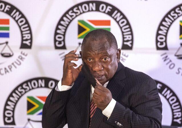 Cyril Ramaphosa, président sud-africain, 28 avril 2021