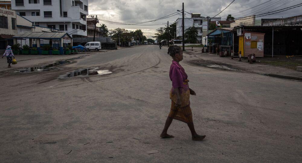 Les rues vides de Toamasina, Madagascar