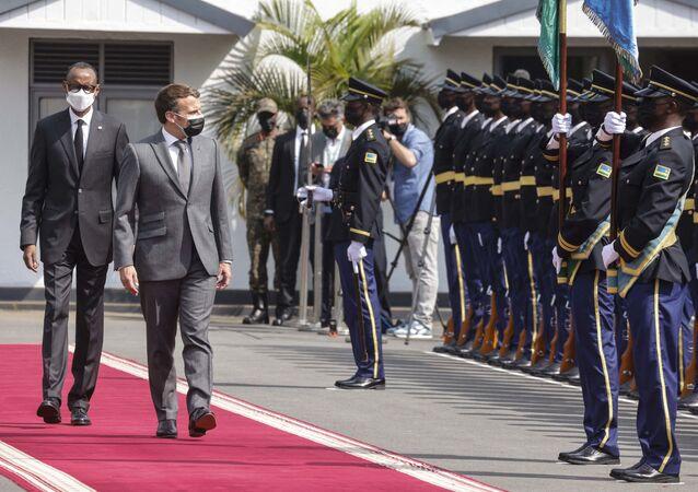 La visite d'Emmanuel Macron au Rwanda, le 27 mai 2021.