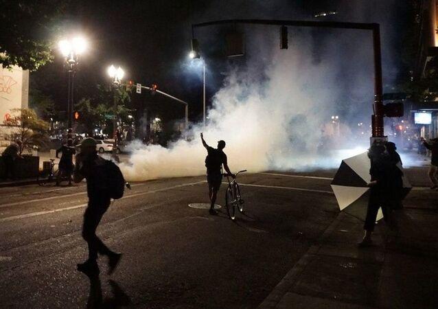 Manifestation à Portland. Image d'archive