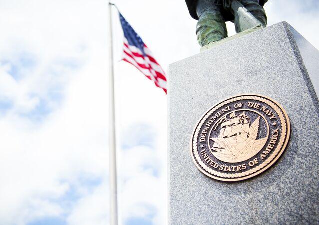 Logo de l'US Navy sur un monument (archive photo)