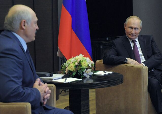 Vladimir Poutine et Alexandre Loukachenko, le 28 mai 2021