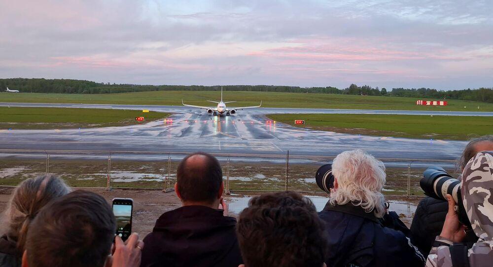 Un avion de Ryanair détourné vers Minsk atterrit à Vilnius le 23 mai, 2021