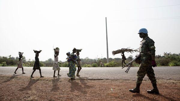 Les forces de la MINUSCA patrouillent à proximité de Bangui, 2021 - Sputnik France