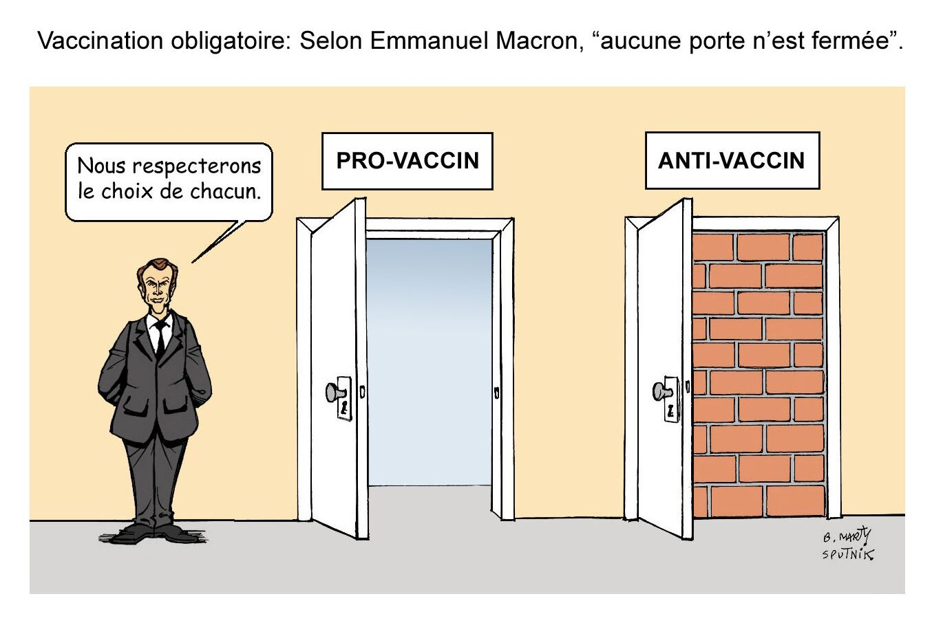Vaccination obligatoire: selon Emmanuel Macron, «aucune porte n'est fermée»