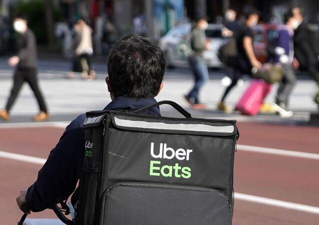 Un livreur d'Uber Eats (image d'illustration)