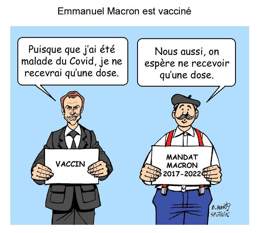 Emmanuel Macron est vacciné