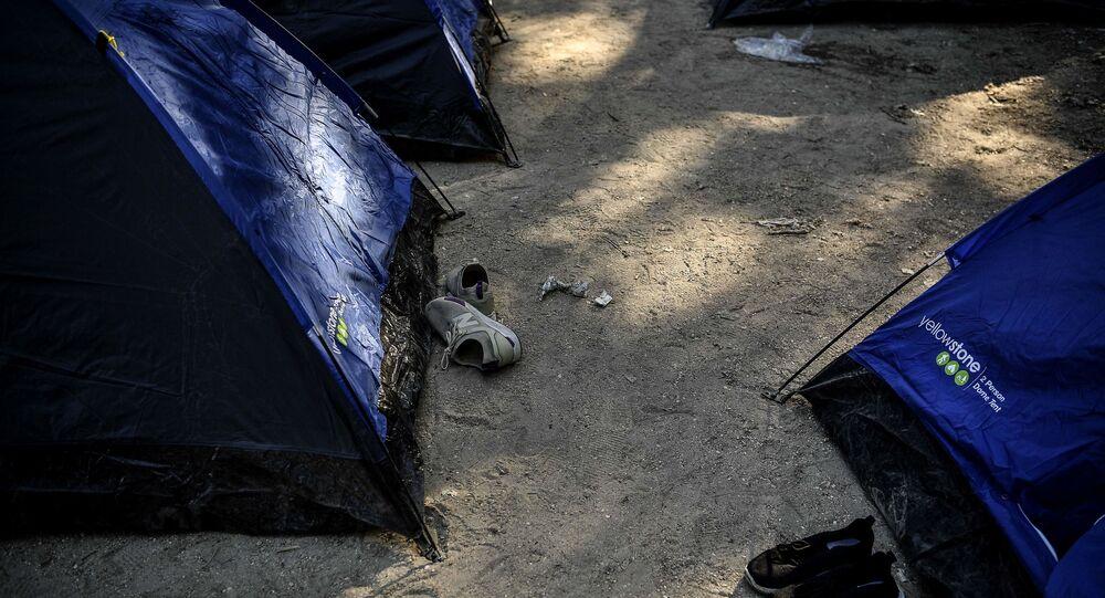Des tentes de migrants à Paris, mai 2020. Photo d'illustration