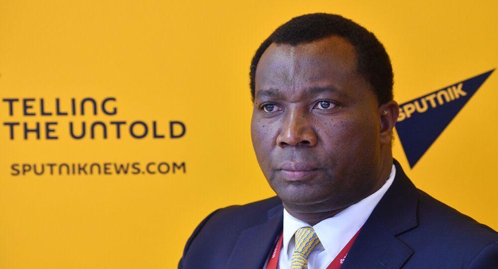 Domitien Ndihokubwayo, ministre des Finances du Burundi au Forum économique international de Saint-Pétersbourg 2021