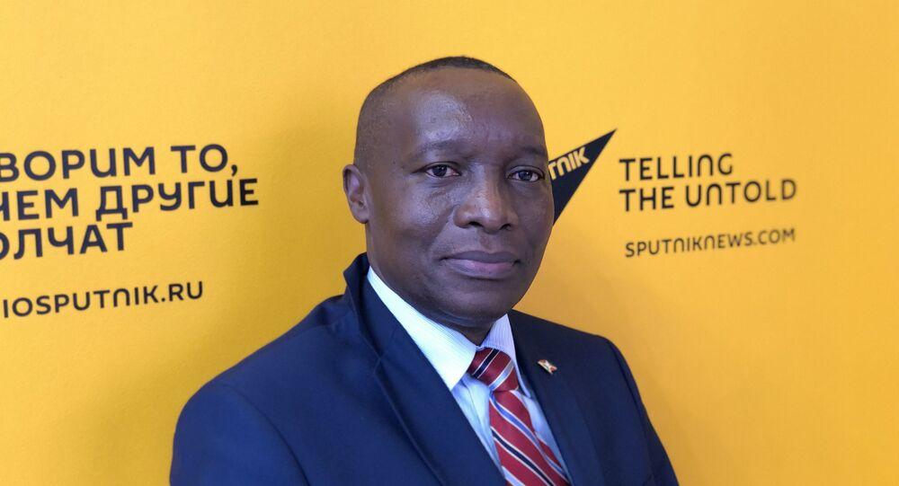 Edouard Bizimana, ambassadeur du Burundi en Russie au Forum économique international de Saint-Pétersbourg 2021