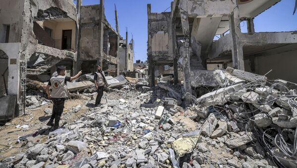 Поиск неразорвавшихся снарядов после конфликта с Израилем в секторе Газа - Sputnik France