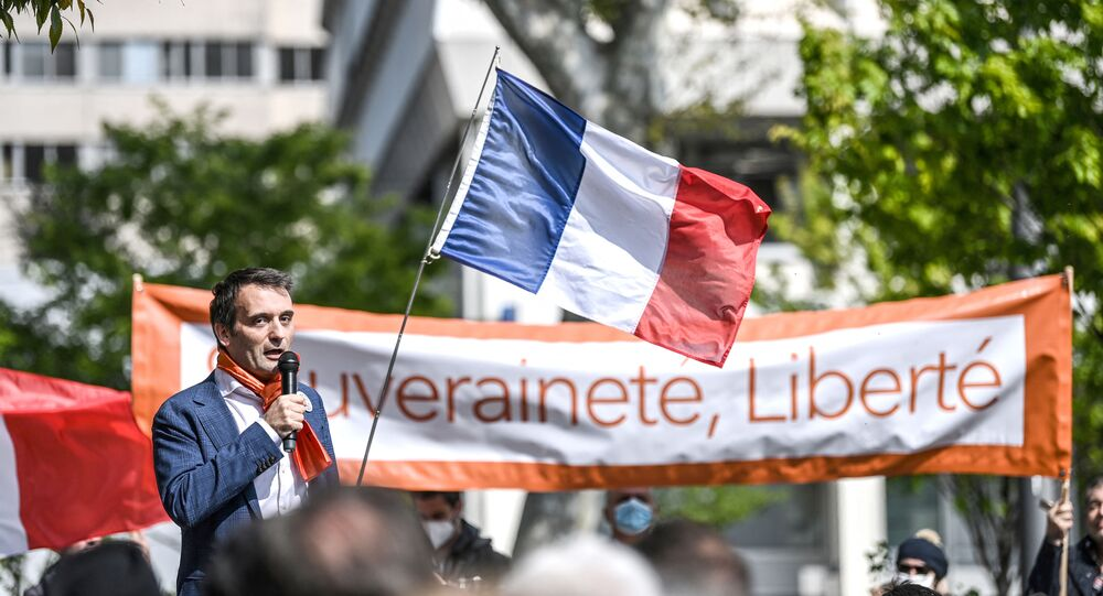 Florian Philippot (Photo by OLIVIER CHASSIGNOLE / AFP)
