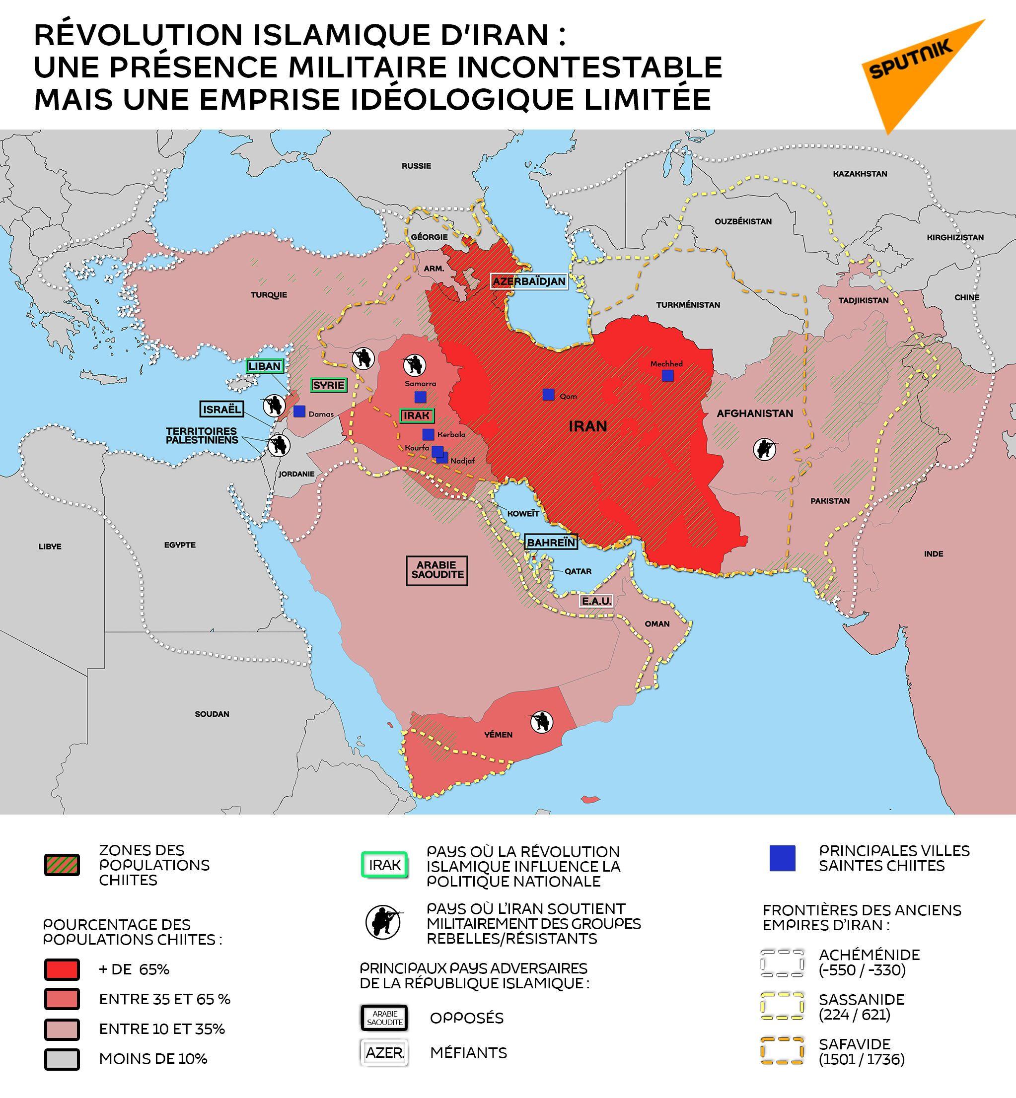 Révolution islamique d'Iran : une présence militaire incontestable mais une emprise idéologique limitée