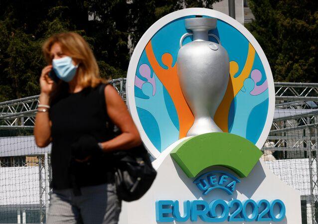 Logo de l'Euro 2020 de football (archive photo)