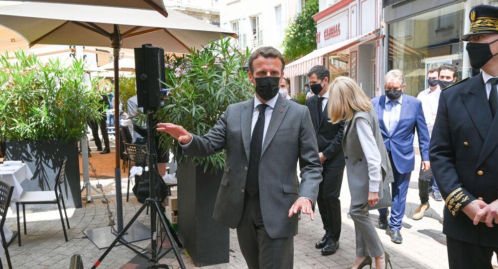 Emmanuel Macron dans la Drôme, le 8 juin 2021