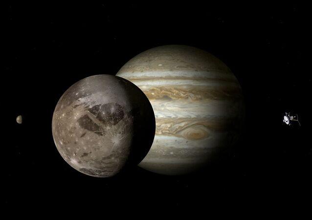 Jupiter et Ganymède