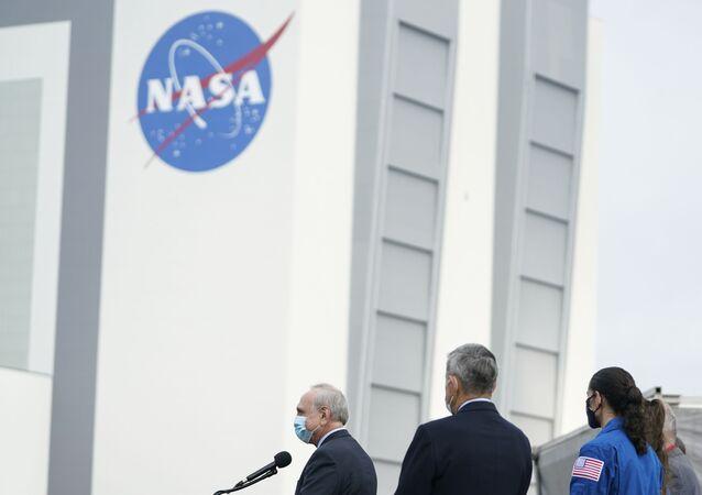 Kennedy Space Center avec le logo de NASA