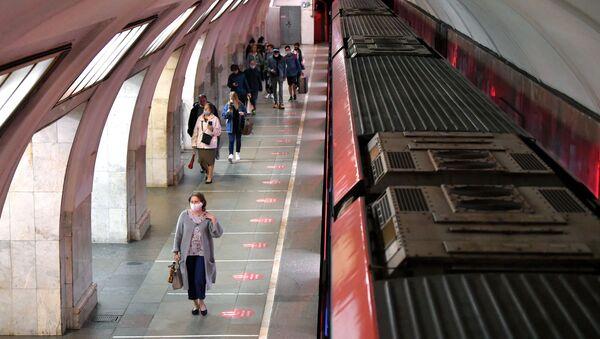 Le métro de Moscou pendant la pandémie de Covid-19 (10 juin 2021) - Sputnik France