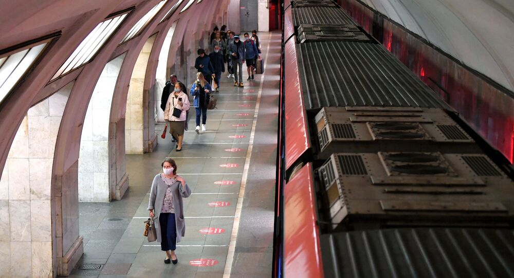 Le métro de Moscou pendant la pandémie de Covid-19 (10 juin 2021)