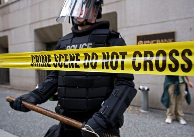 Un policier à Pittsburgh, en Pennsylvanie