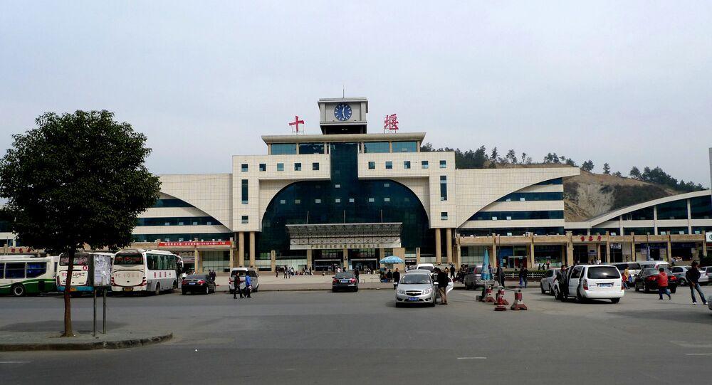 La gare de Shiyan, province de Hubei, Chine