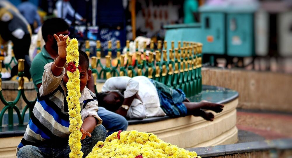 Inde. Fleurs