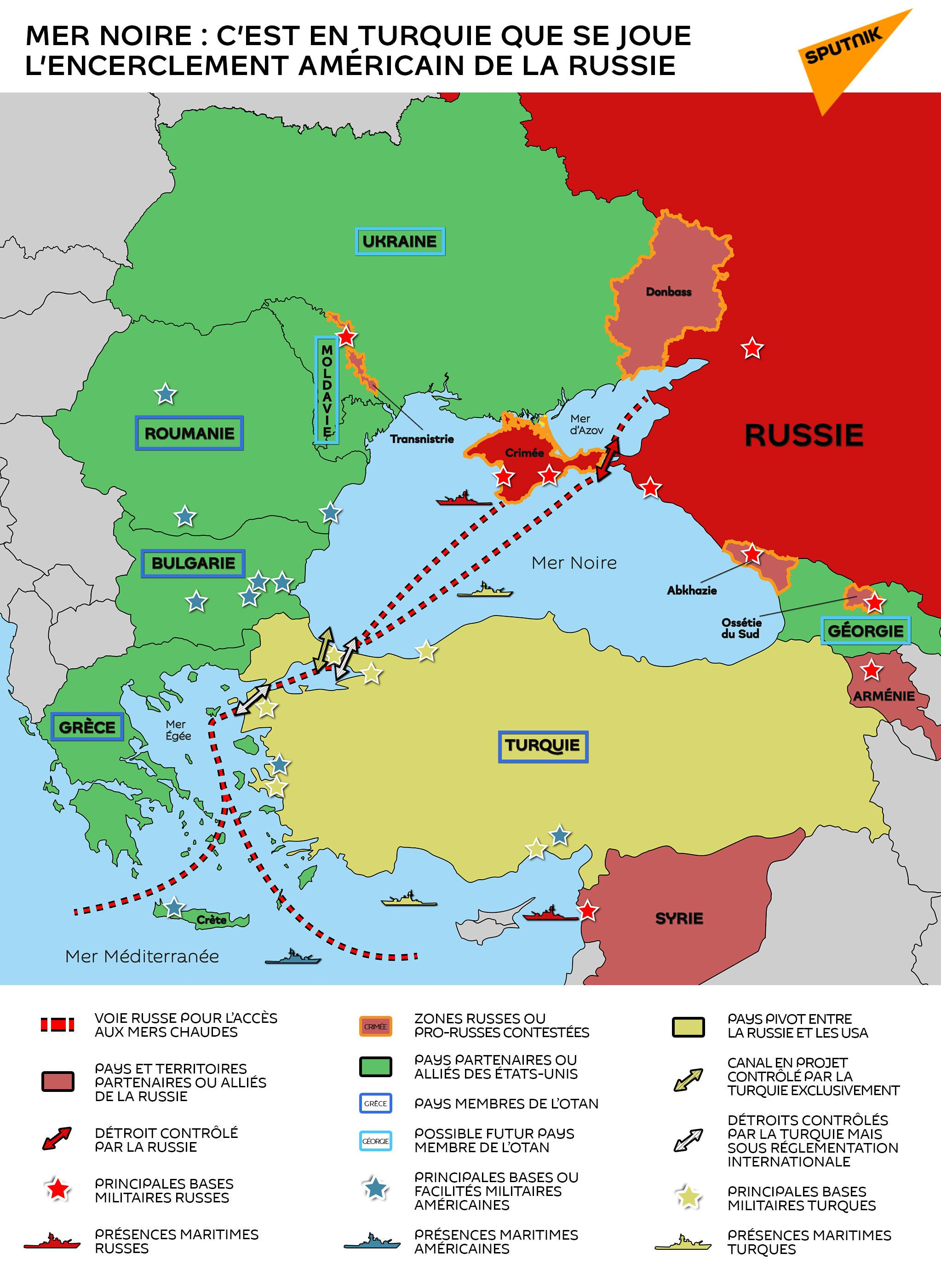 Mer Noire : c'est en Turquie que se joue l'encerclement américain de la Russie