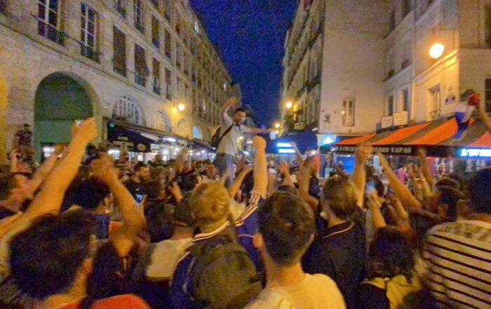 Les supporters parisiens lors du match France-Allemagne, 15 juin 2021