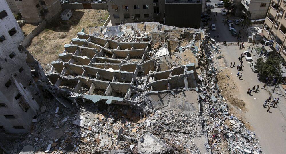 Destructions à Gaza après l'escalade des tensions avec Israël en mai 2021