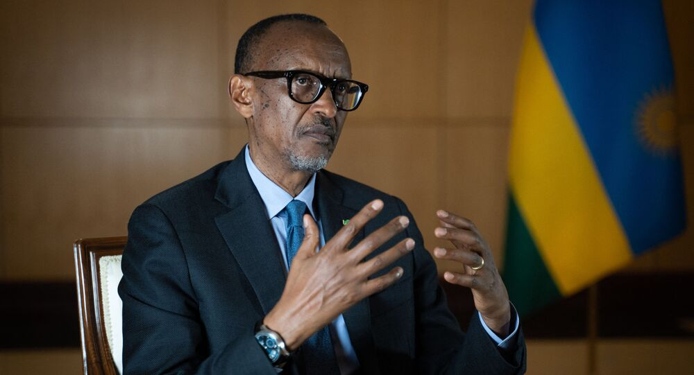 Paul Kagame, président rwandais, 2021.