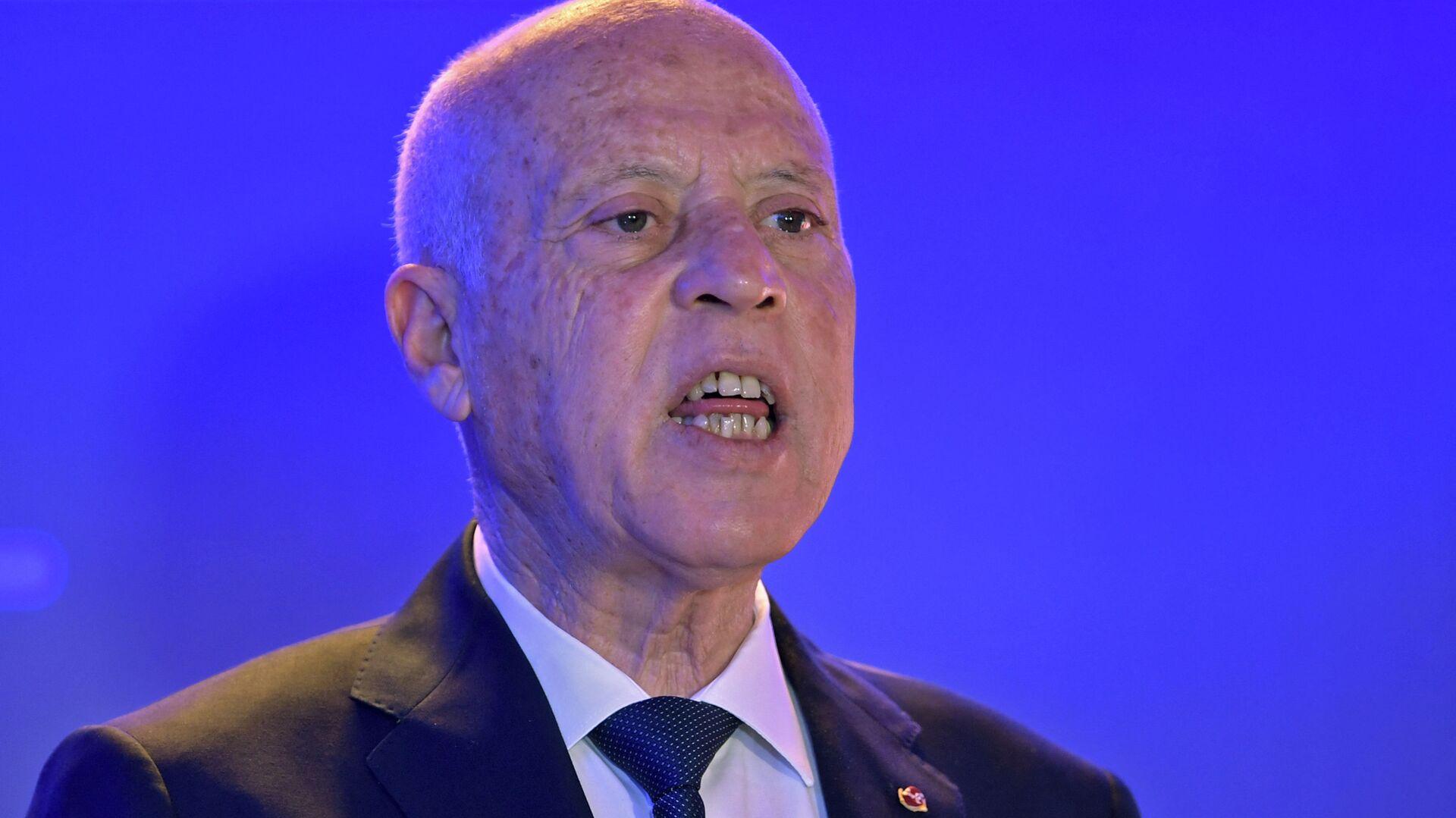 الرئيس التونسي قيس سعيد في تونس 22 مارس 2021 - Sputnik France, 1920, 14.09.2021