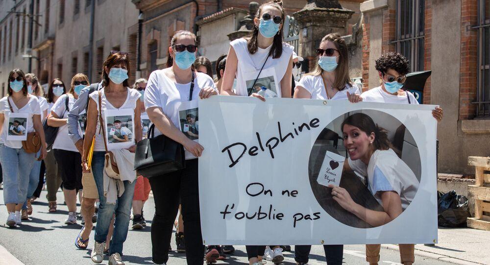 Marche en hommage à l'infirmière à Albi