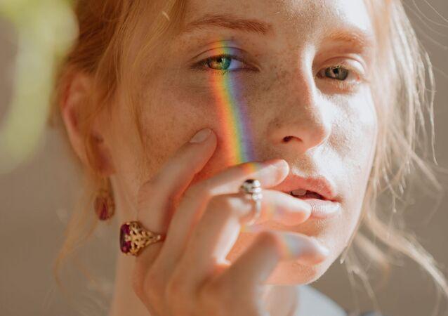 Portrait d'une femme russe (image d'illustration)