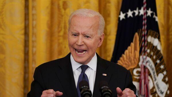 Président des États-Unis Joe Biden dans la Maison-Blanche - Sputnik France