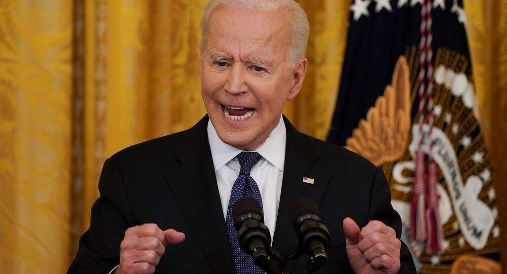 Président des États-Unis Joe Biden dans la Maison-Blanche