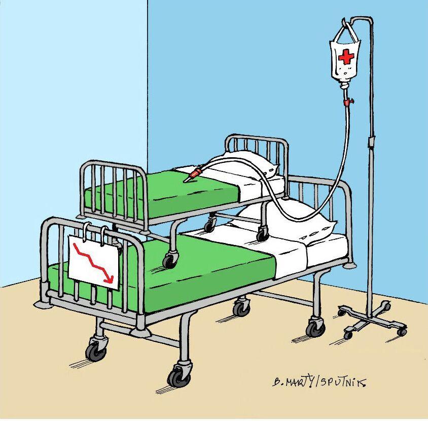 Hôpital: plus de 1.800 lits fermés ou supprimés en trois mois