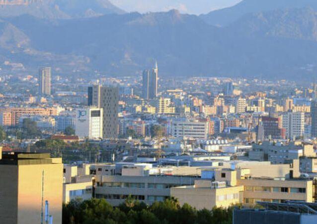 Vue aérienne sur la ville de Murcie
