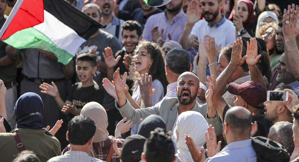 Protestations à Ramallah